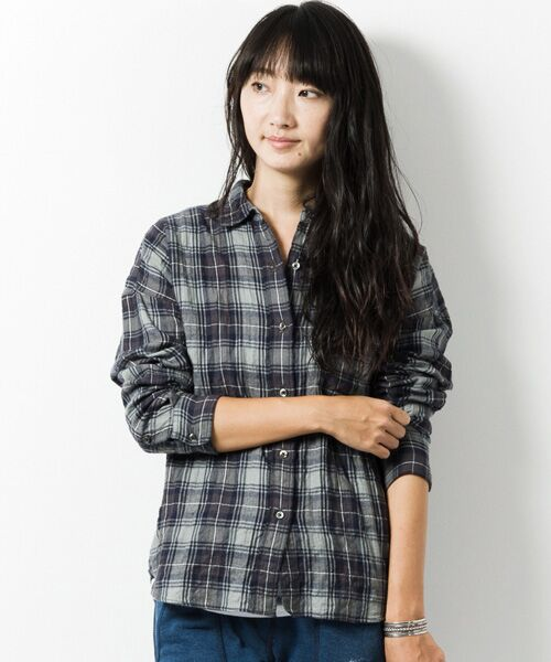 シャーリングネルルーズシャツ/207-AIP-L152-SH115【送料無料】