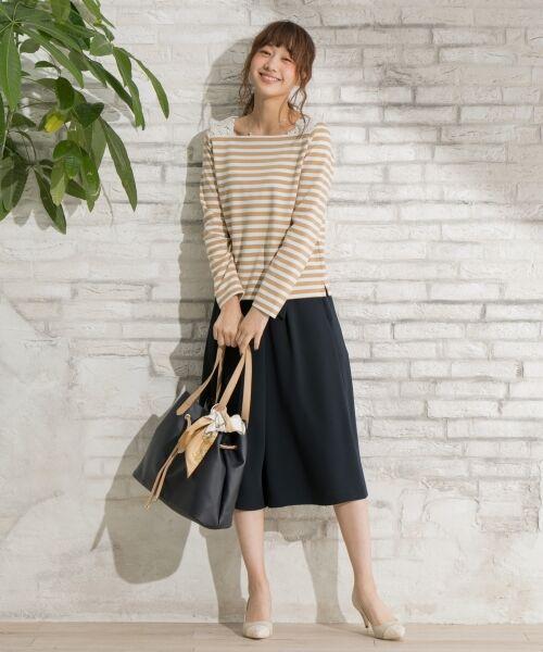 any SiS / エニィスィス Tシャツ | レーシーフレンチボーダー カットソー | 詳細1