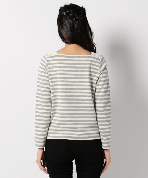 any SiS / エニィスィス Tシャツ | レーシーフレンチボーダー カットソー | 詳細7