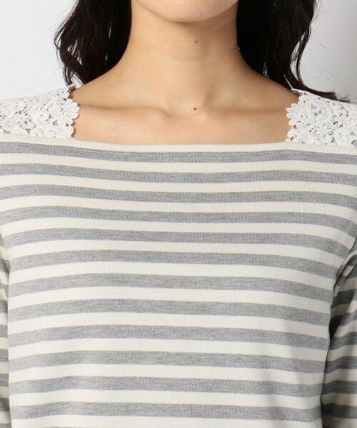 any SiS / エニィスィス Tシャツ | レーシーフレンチボーダー カットソー | 詳細8
