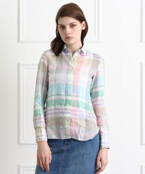 送料無料! Finamore チェックシャツ