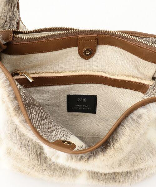 BAG selection / バッグ セレクション ショルダーバッグ | 【3WAY】シンプルショッパー フェイクファー | 詳細10