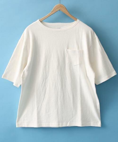 coen / コーエン Tシャツ   バスクビッグシルエットT(WHITE)