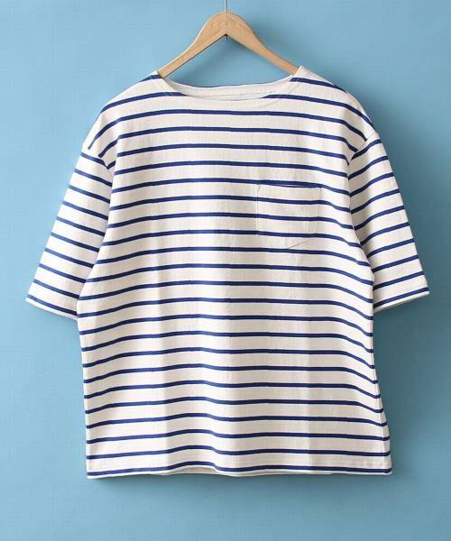 coen / コーエン Tシャツ   バスクビッグシルエットT(LT.BLUE)