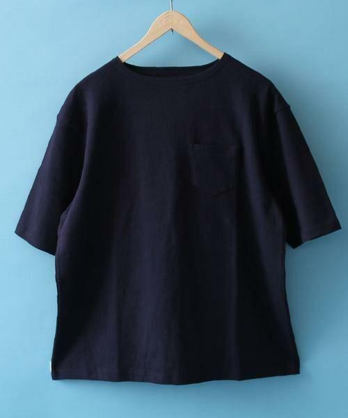 coen / コーエン Tシャツ   バスクビッグシルエットT(NAVY)