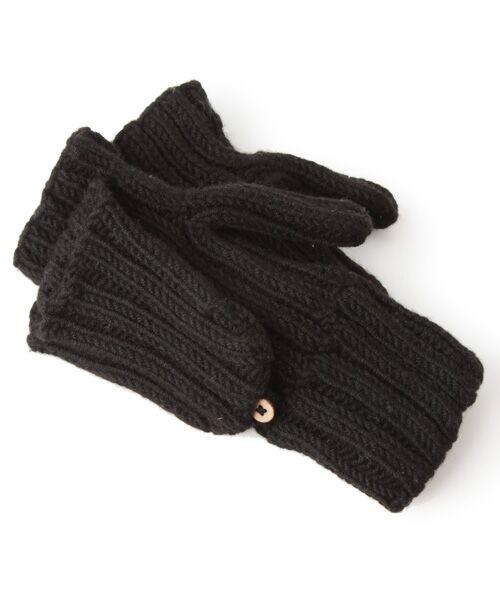 DGBH / ディージービーエイチ 手袋 | リブド・ミトンズ(ブラック)