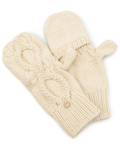 DGBH / ディージービーエイチ 手袋 | チェスナット・ミトンズ(オフホワイト)