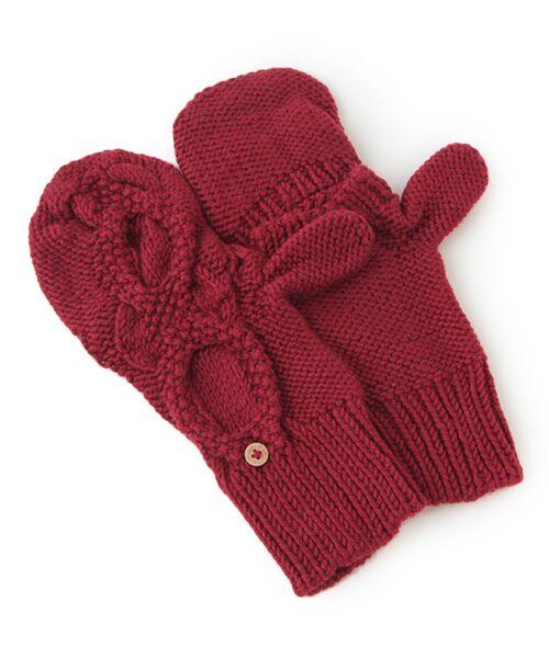 DGBH / ディージービーエイチ 手袋 | チェスナット・ミトンズ(クランベリーレッド)