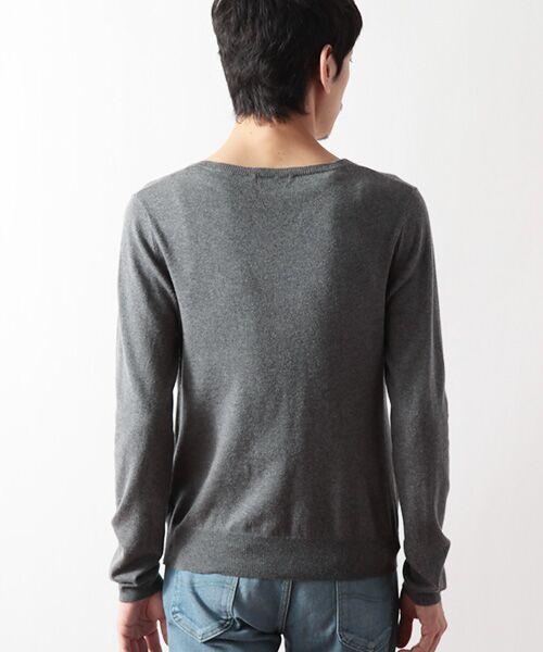 DGBH / ディージービーエイチ ニット・セーター | メンズ Vネックセーター(ピマコットン70%ヤク30%) | 詳細1
