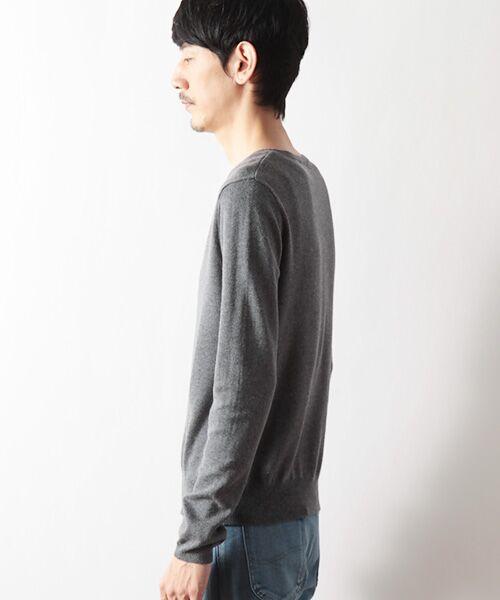 DGBH / ディージービーエイチ ニット・セーター | メンズ Vネックセーター(ピマコットン70%ヤク30%) | 詳細2