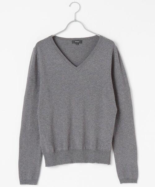 DGBH / ディージービーエイチ ニット・セーター | メンズ Vネックセーター(ピマコットン70%ヤク30%) | 詳細6