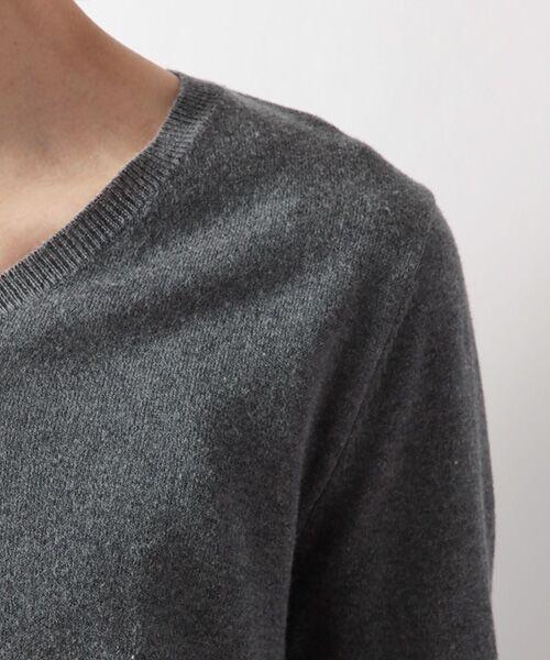 DGBH / ディージービーエイチ ニット・セーター | メンズ Vネックセーター(ピマコットン70%ヤク30%) | 詳細3