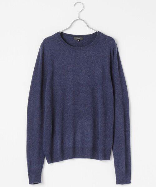 DGBH / ディージービーエイチ ニット・セーター | メンズ クルーネックセーター(ヤク100%)(デニム)