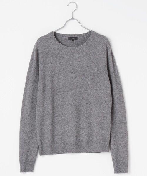 DGBH / ディージービーエイチ ニット・セーター | メンズ クルーネックセーター(ヤク100%)(グレー)