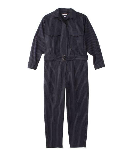 スーピマ80/2ピンストライプ ジャンプスーツ【送料無料】