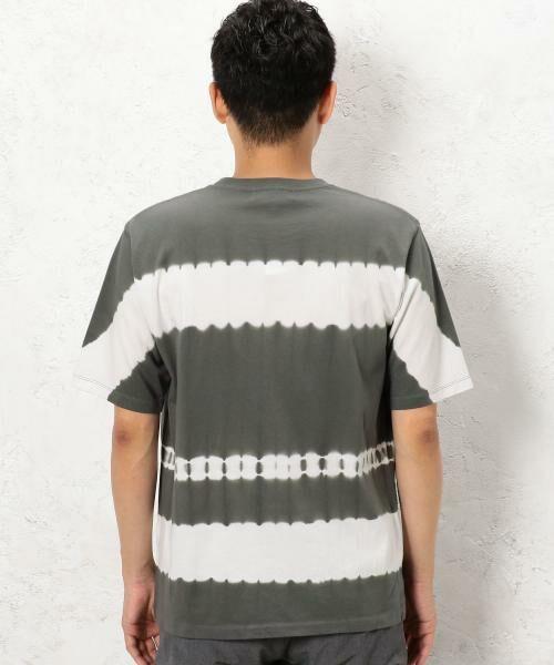 green label relaxing / グリーンレーベル リラクシング Tシャツ | ST タイダイボーダー クルーネック SS Tシャツ | 詳細1