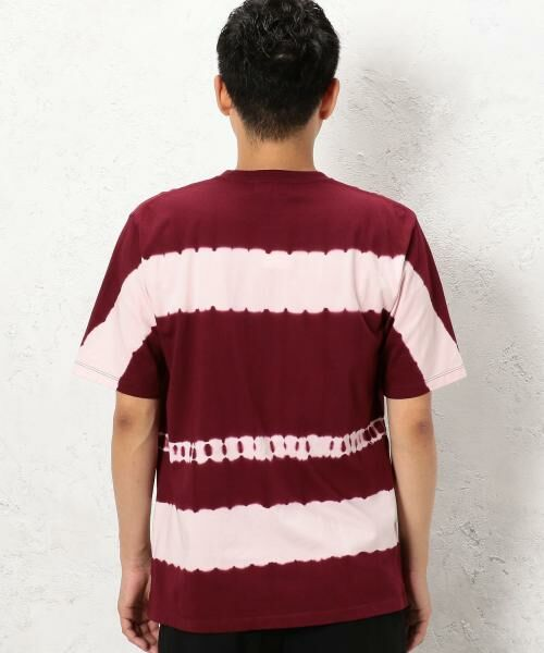 green label relaxing / グリーンレーベル リラクシング Tシャツ | ST タイダイボーダー クルーネック SS Tシャツ | 詳細3