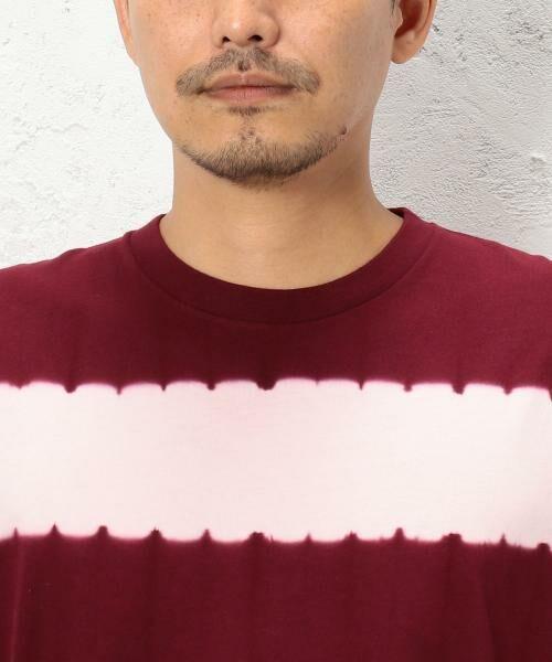 green label relaxing / グリーンレーベル リラクシング Tシャツ | ST タイダイボーダー クルーネック SS Tシャツ | 詳細7