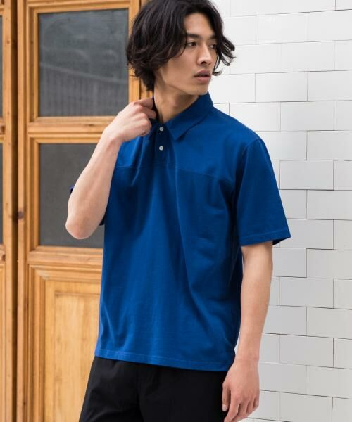 green label relaxing / グリーンレーベル リラクシング Tシャツ | SC ソフトフィール ポロシャツ(ロイヤル)