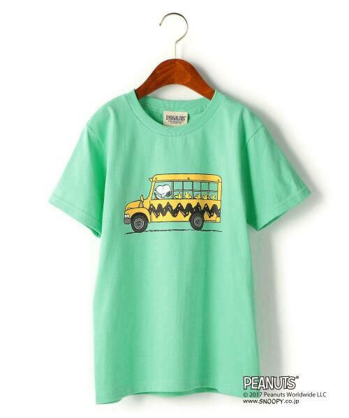green label relaxing / グリーンレーベル リラクシング ベビー・キッズウエア | 【ジュニア】別注 チャーリー・ブラウン バス(ライム)