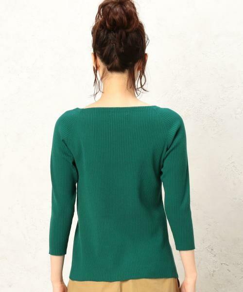 green label relaxing / グリーンレーベル リラクシング ニット・セーター | 【CLASSY.10月号掲載】[手洗い可能] KC リブ スクエアネック ニット | 詳細17