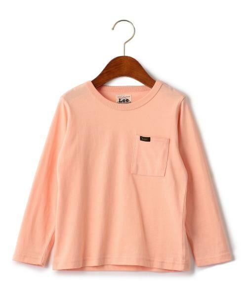 green label relaxing / グリーンレーベル リラクシング ベビー・キッズウエア | WEB限定【キッズ】LEE(リー) クルーネック ポケット Tシャツ(PINK)