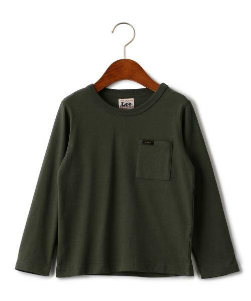 green label relaxing / グリーンレーベル リラクシング ベビー・キッズウエア | WEB限定【キッズ】LEE(リー) クルーネック ポケット Tシャツ(OLIVE)