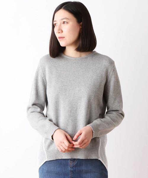 コットン天竺切替セーター【送料無料】