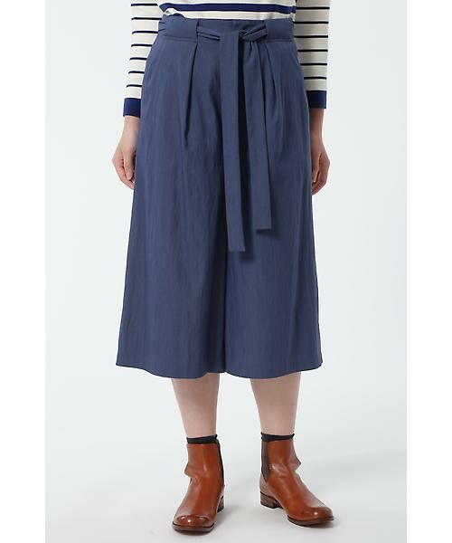HUMAN WOMAN / ヒューマンウーマン スカート | TEN/NYストレッチツイル スカウチョ(ネイビー)