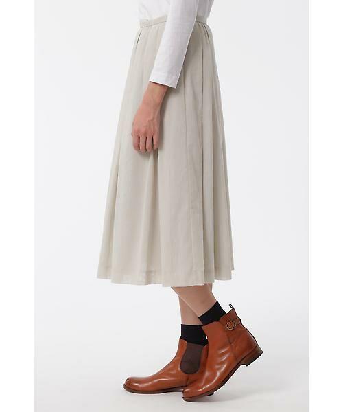 HUMAN WOMAN / ヒューマンウーマン スカート | 100/2コットンオーガンジースカート | 詳細3