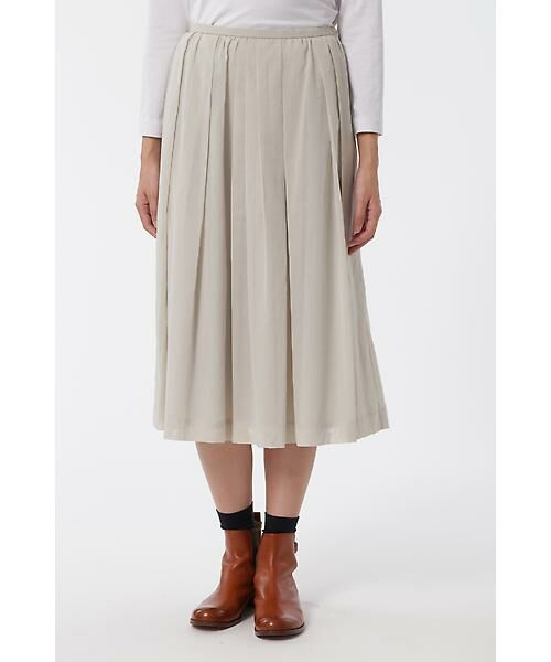 HUMAN WOMAN / ヒューマンウーマン スカート | 100/2コットンオーガンジースカート(グレージュ2)