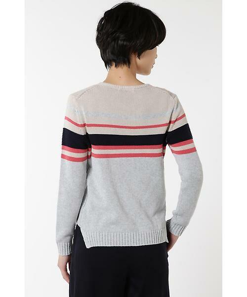 HUMAN WOMAN / ヒューマンウーマン ニット・セーター | カラーブロックニット | 詳細3
