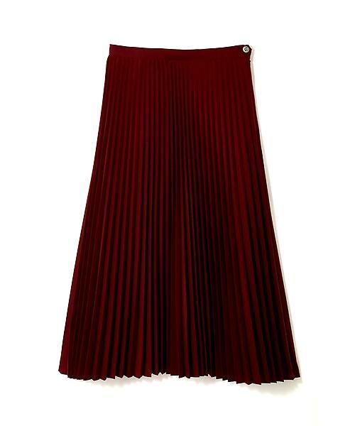 HUMAN WOMAN / ヒューマンウーマン スカート | C/Peポプリン プリーツスカート | 詳細1