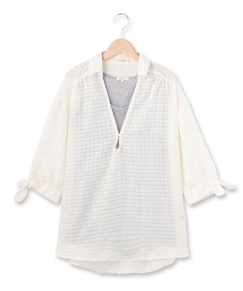 チェックシャツ+タンクトップ【送料無料】