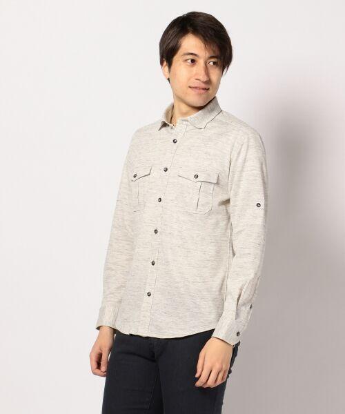 リネンカットシャツ シャツ【送料無料】