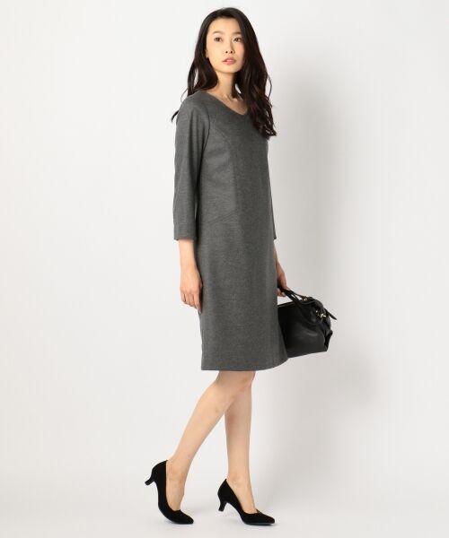 J.PRESS / ジェイプレス ドレス | 1/60ウール圧縮スムース ワンピース | 詳細1