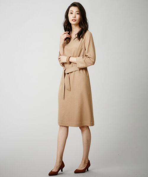 J.PRESS / ジェイプレス ドレス | 1/60ウール圧縮スムース ワンピース | 詳細2