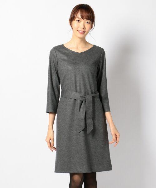 J.PRESS / ジェイプレス ドレス | 1/60ウール圧縮スムース ワンピース | 詳細4