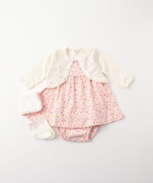 組曲 KIDS / クミキョク キッズ ギフトセット | 【BABY】ギフトBOX(フラワープリント 5点セット)(ピンク系5)