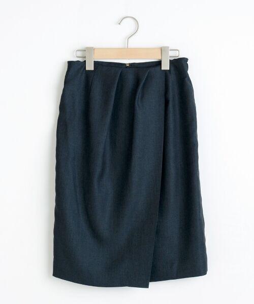 リネンライクラップ風スカート【送料無料】