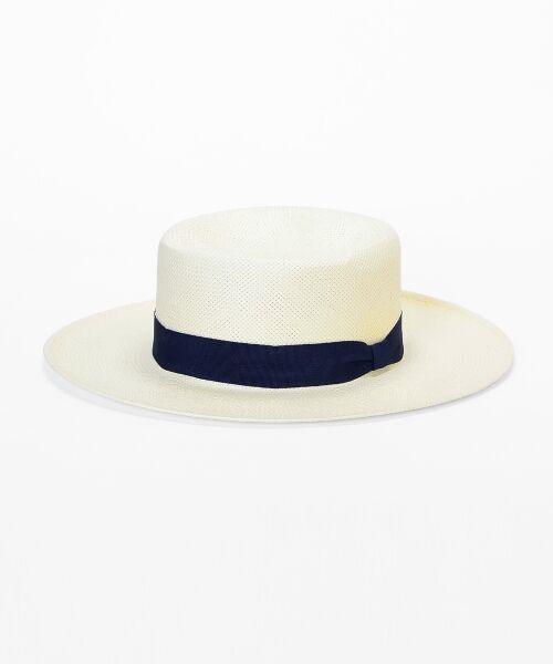 le.coeur blanc / ルクールブラン ハット | ペーパーカンカン帽(ホワイト)