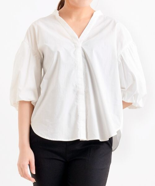 le.coeur blanc / ルクールブラン シャツ・ブラウス   ボリュームスリーブスキッパーシャツ   詳細17