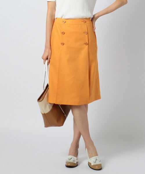 送料無料! 【洗える!】C/Liシャンブレツイル スカート