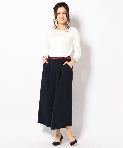 L size ONWARD(大きいサイズ) / エルサイズオンワード Tシャツ | 【洗える】コットンワイドリブ カットソー | 詳細1