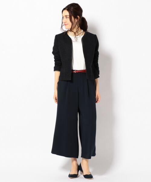 L size ONWARD(大きいサイズ) / エルサイズオンワード Tシャツ | 【洗える】コットンワイドリブ カットソー | 詳細2