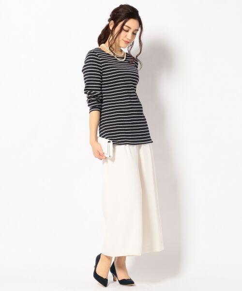 L size ONWARD(大きいサイズ) / エルサイズオンワード Tシャツ | 【洗える】コットンワイドリブ カットソー | 詳細4