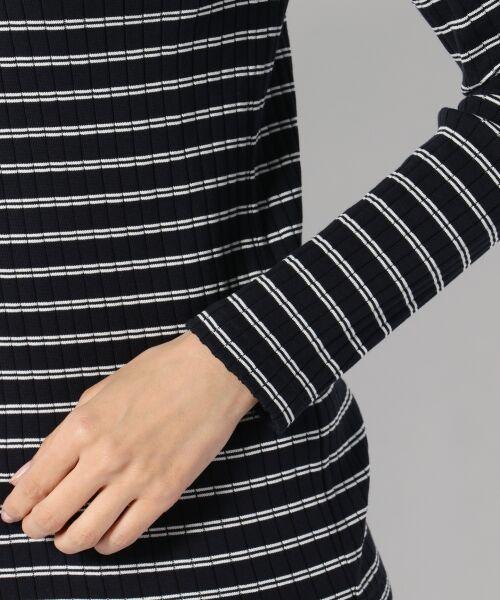 L size ONWARD(大きいサイズ) / エルサイズオンワード Tシャツ | 【洗える】コットンワイドリブ カットソー | 詳細14