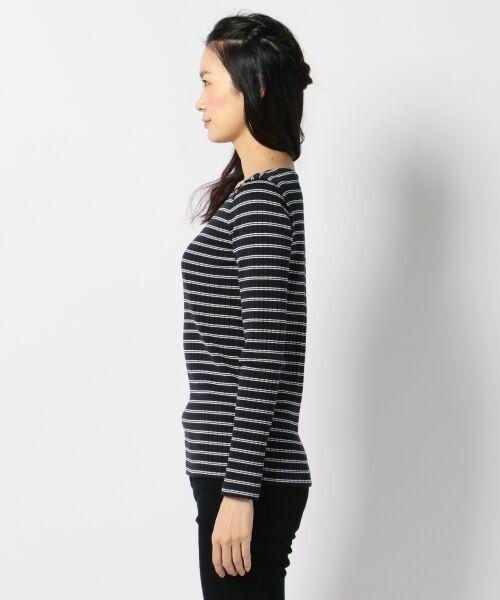 L size ONWARD(大きいサイズ) / エルサイズオンワード Tシャツ | 【洗える】コットンワイドリブ カットソー | 詳細7