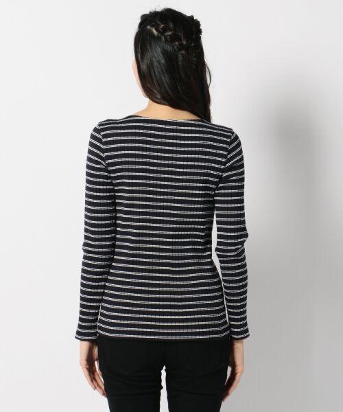 L size ONWARD(大きいサイズ) / エルサイズオンワード Tシャツ | 【洗える】コットンワイドリブ カットソー | 詳細12