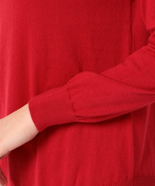 L size ONWARD(大きいサイズ) / エルサイズオンワード ニット・セーター | 【洗える】ソフトコットンカシミヤ アシメントリー ニット | 詳細27